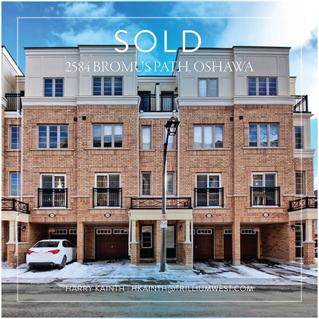 SOLD | 2584 BROMUS PATH  Congratulations to my sellers! A lot of competition in this complex, but our unit managed to stand out over the others and got this baby sold! . . . . . . #realestate #sold #houses #townhouse #oshawa #university #realtorlife #sellsellsold