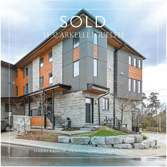 Congratulations to my sellers on their quick and seamless sale! . . . . . . . #sold #realestate #guelph #guelphrealestate #realtorlife #townhouse #southguelph #houses #housesforsale #housesofinstagram