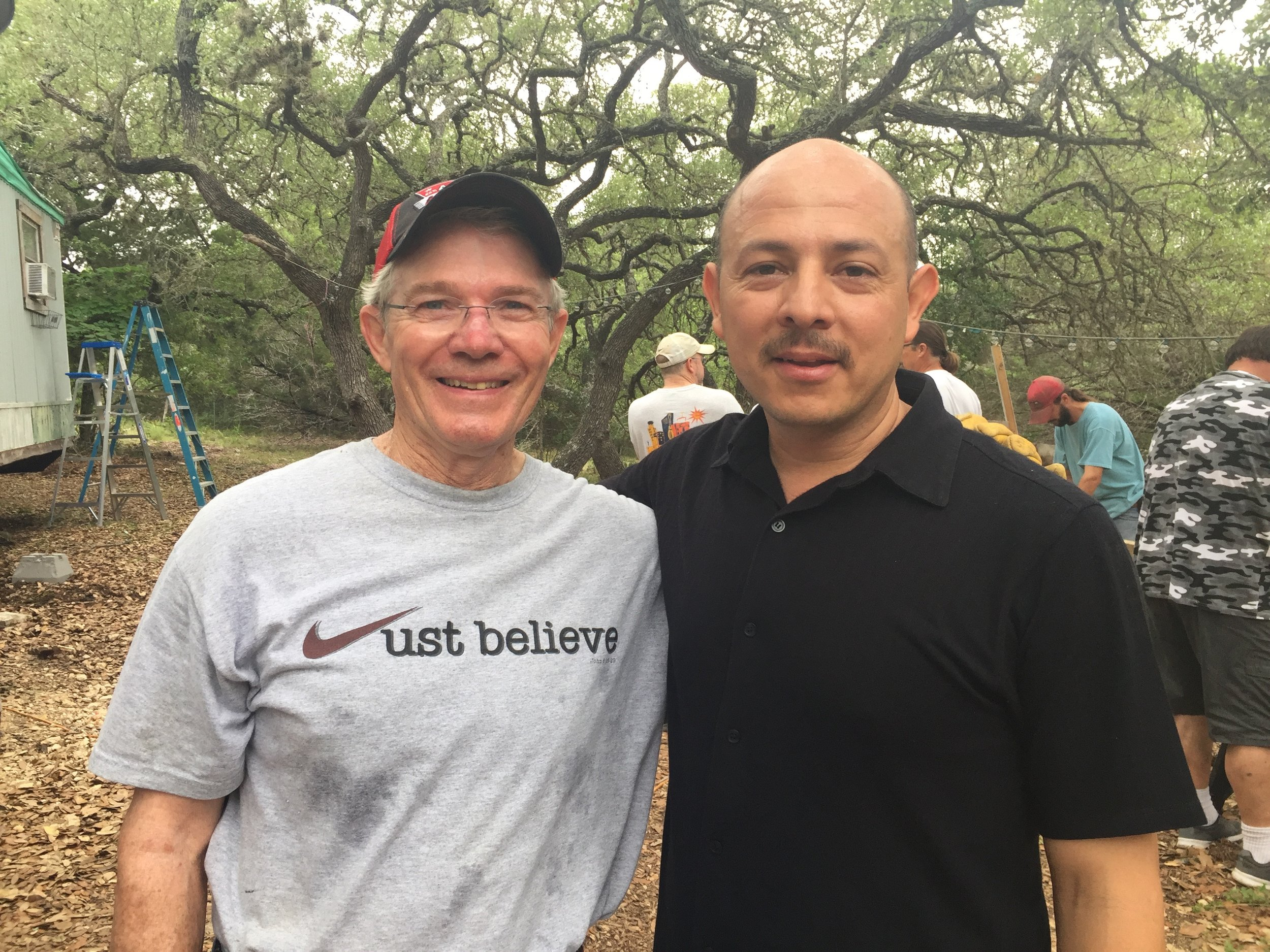 Volunteer, Jack Breese with Pastor Jesus.