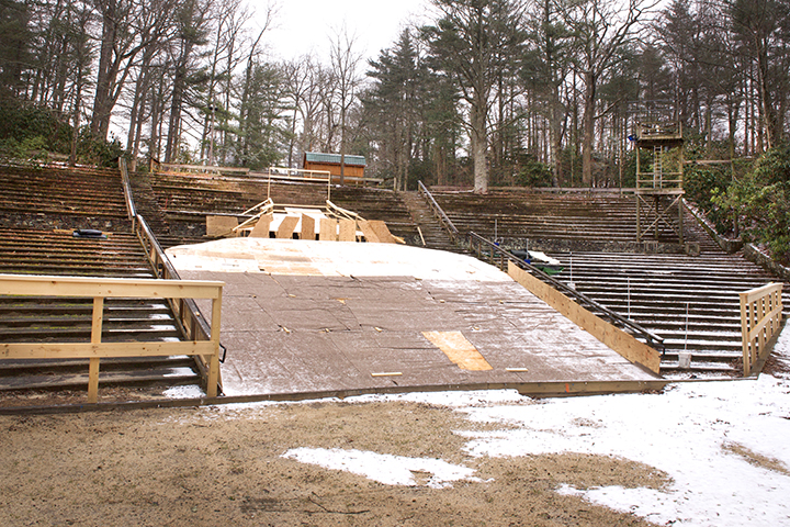 The ramp base in the amphitheater.