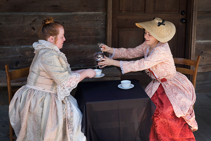 LADIES AT COLONIAL TEA