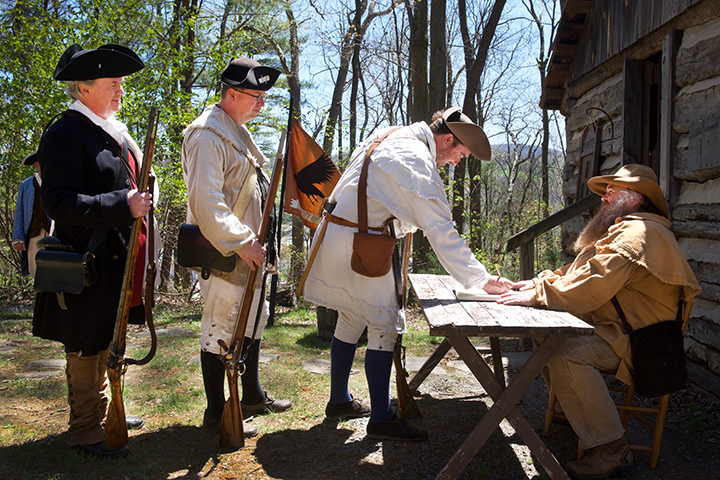 SIGNING THE MUSTER ROLL