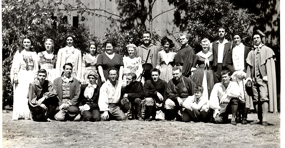 The 1952 Horn in the West Cast
