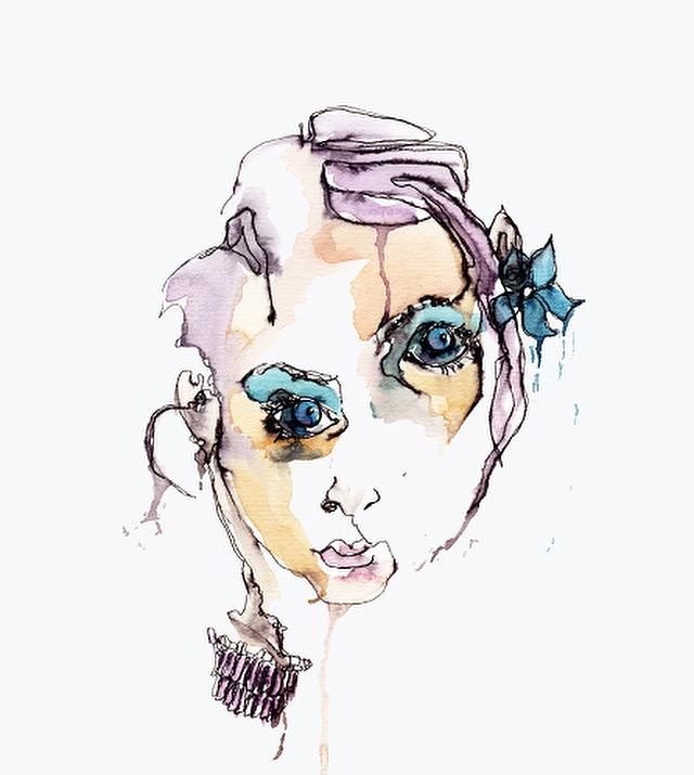 Portraits - Blind contour portraits and self-portraits by Briana DeVoe
