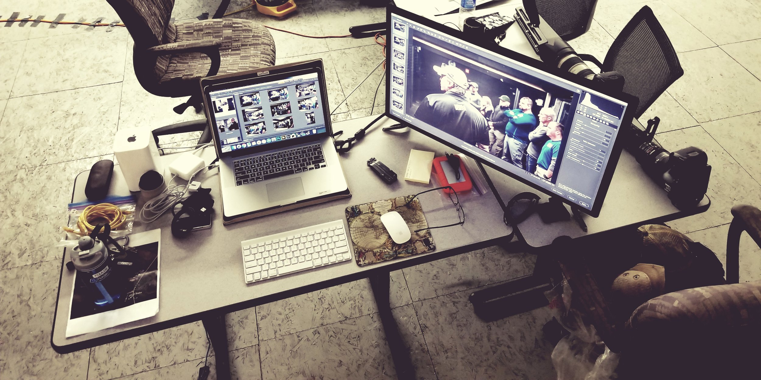 Outside the Wire - Image editing station