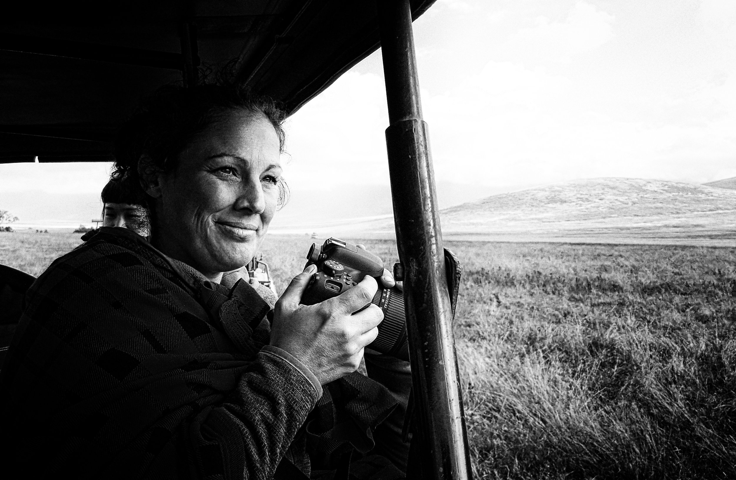 African Adventure - 31 July '18 - Ngorongoro (Crater) Conservation Area to Meserani, Tanzania - 028 (B&W).jpg