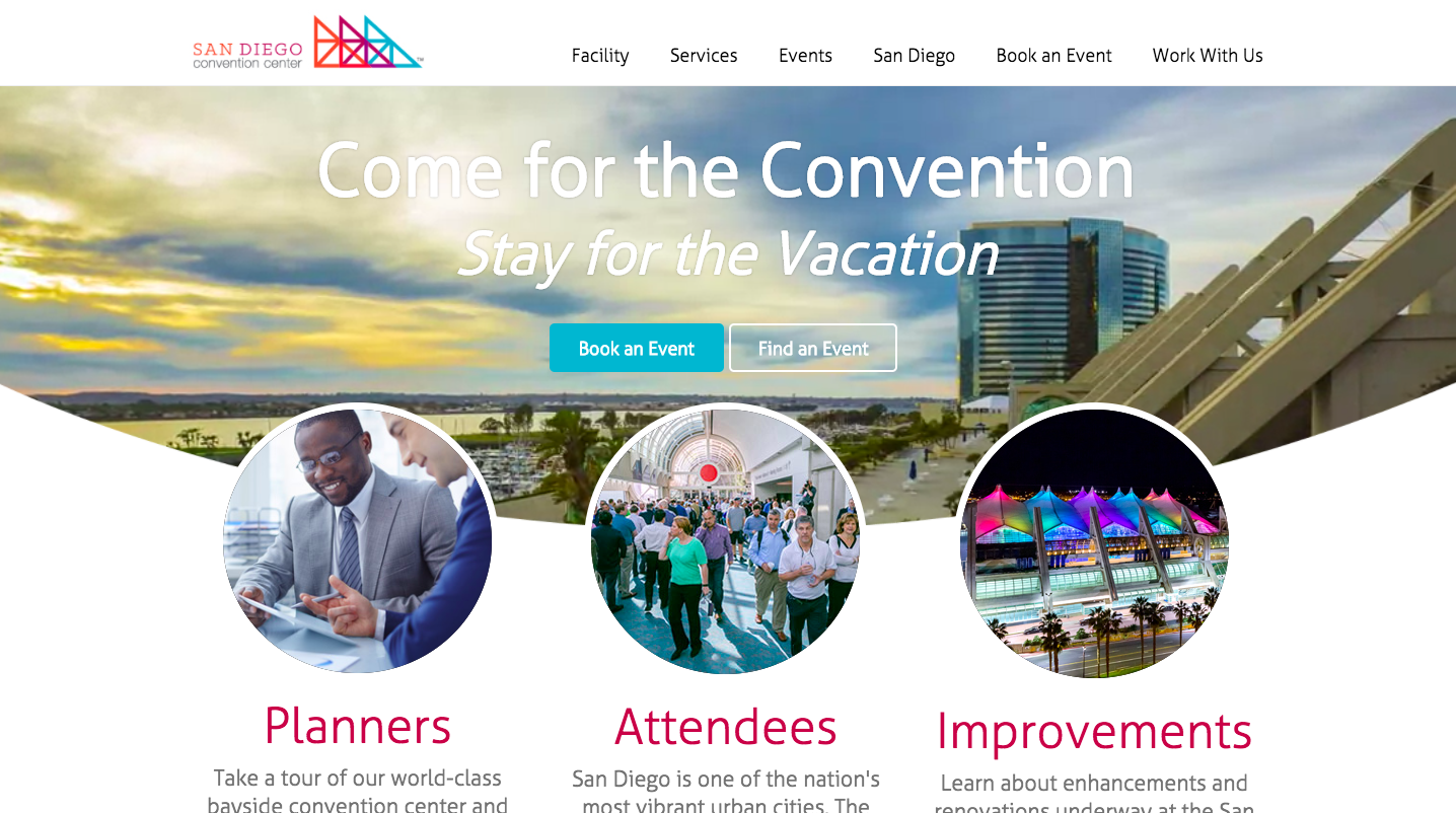 2015: Best Website (Design) & Best of Show (Overall Website), San Diego Press Club - In 2014, the communications team began a complete redesign and configuration of our main corporate website, visitsandiego.com.