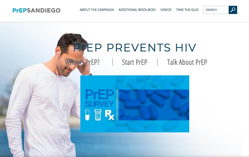 Screen Capture from PrEPSandiego.com