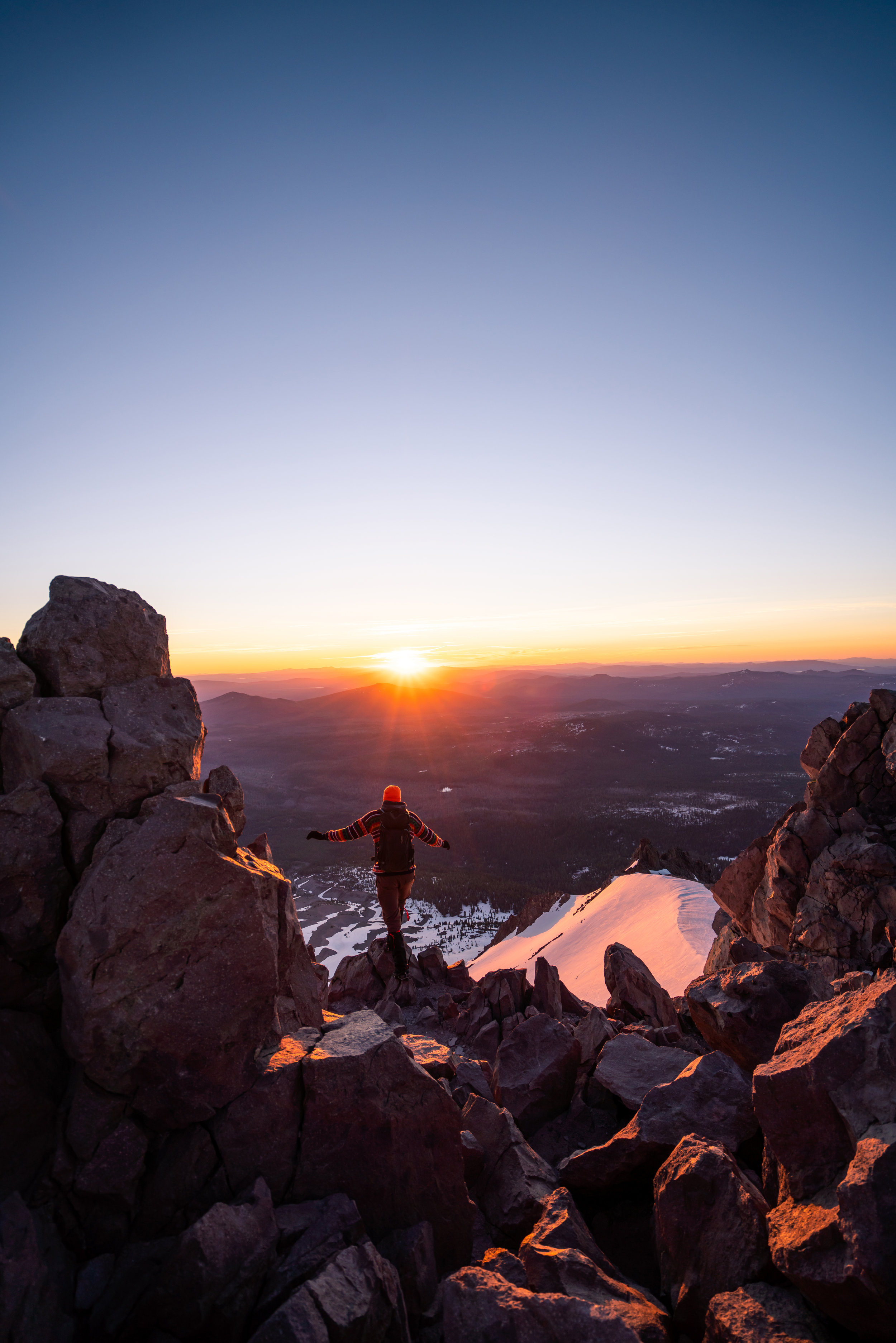 Mount Lassen summit at sunrise