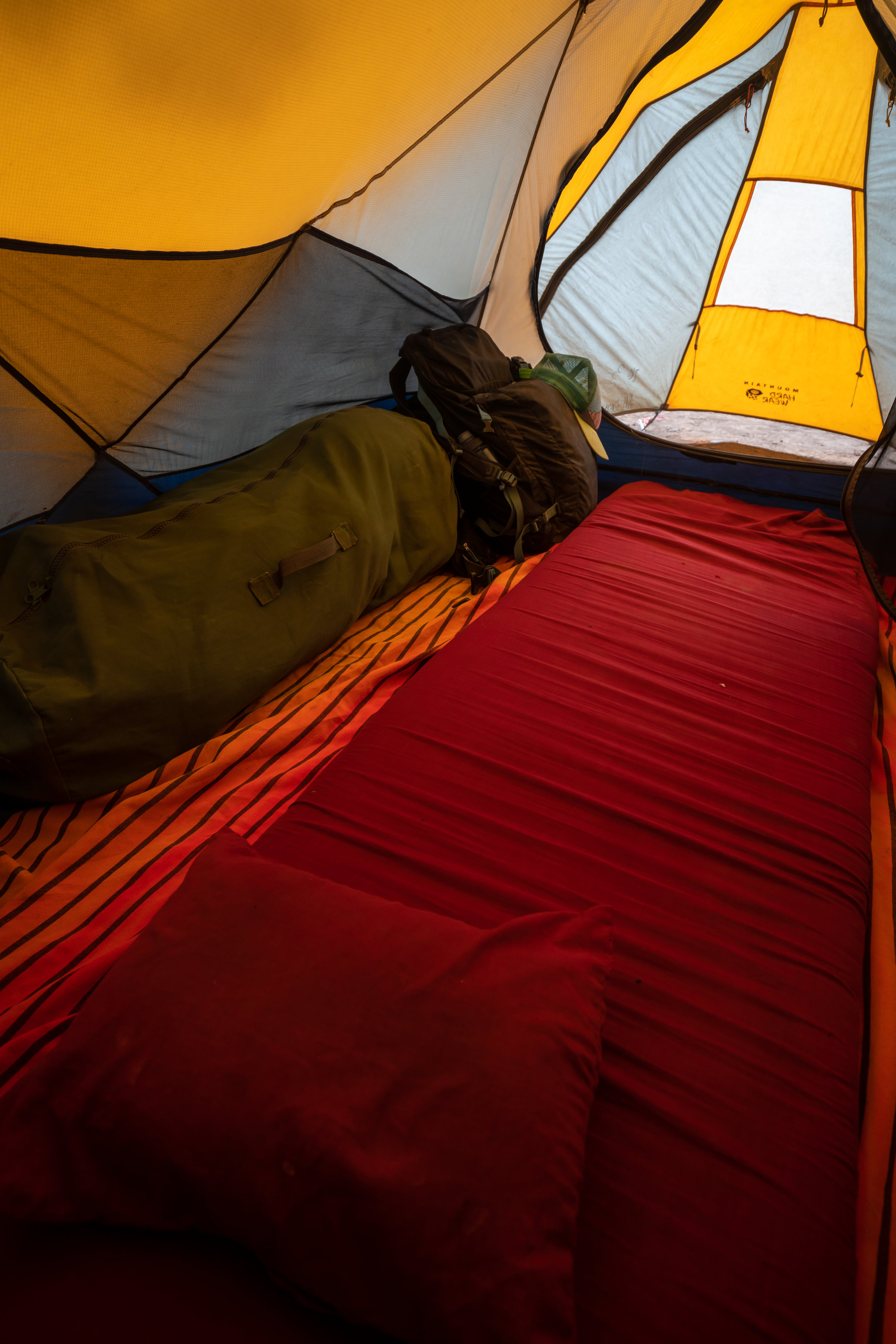 This is how your tent will look when you arrive to camp.