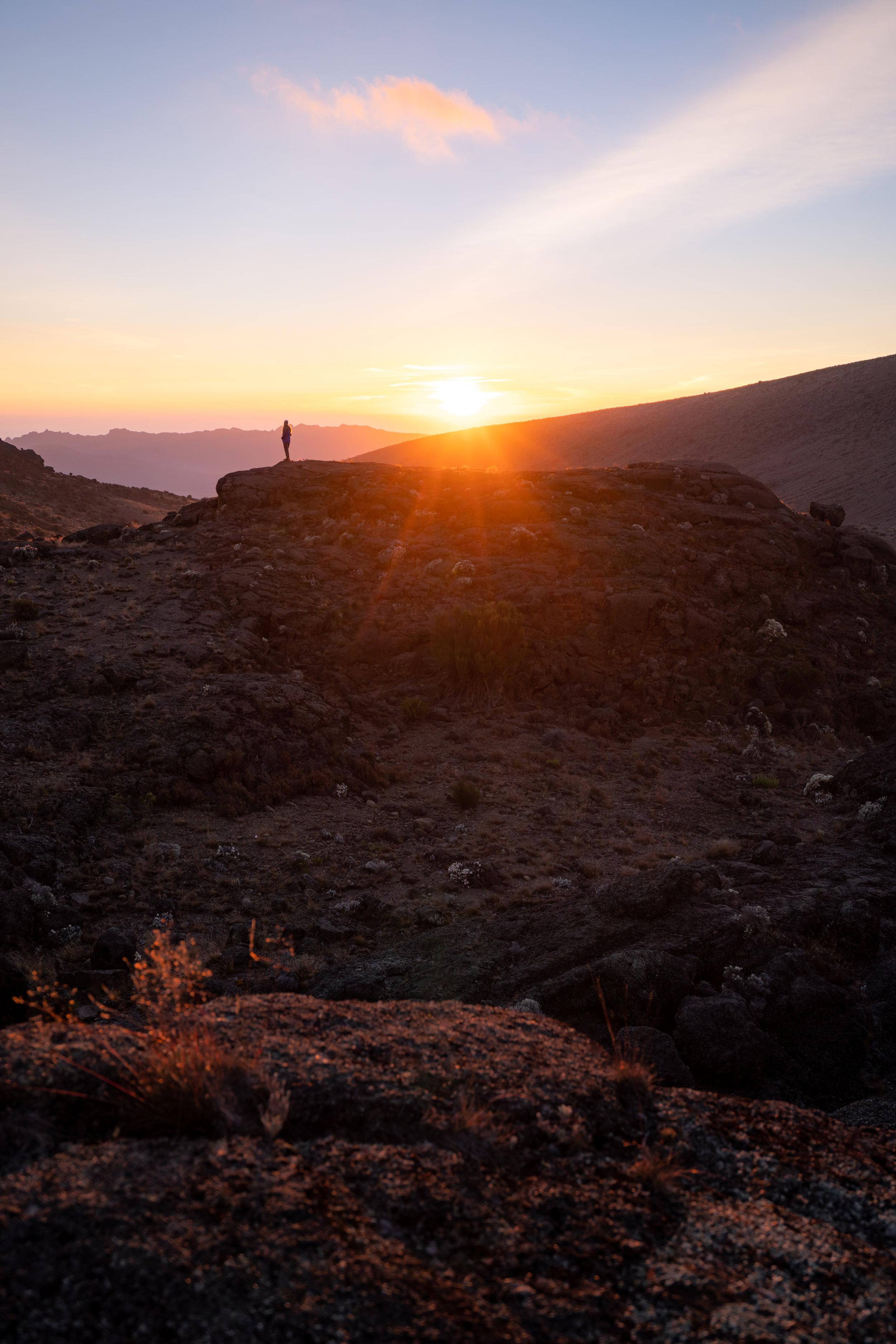 Sunset from Moir Camp