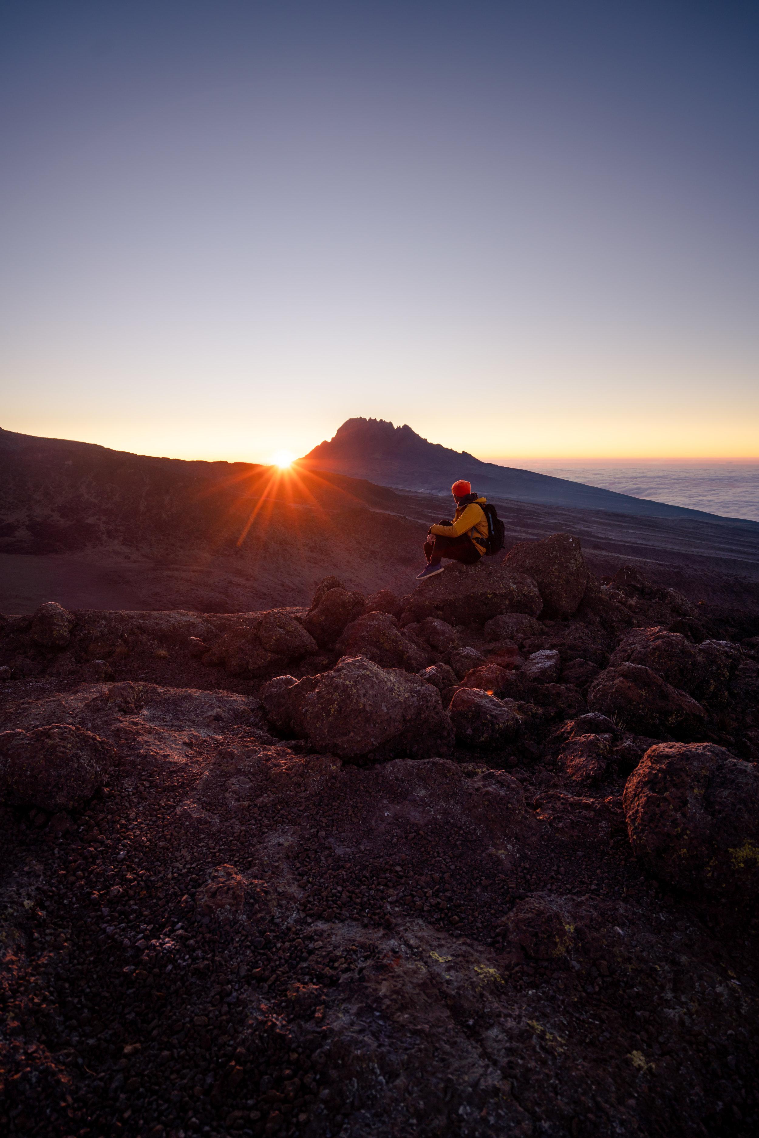 Sunrise at Barafu Camp