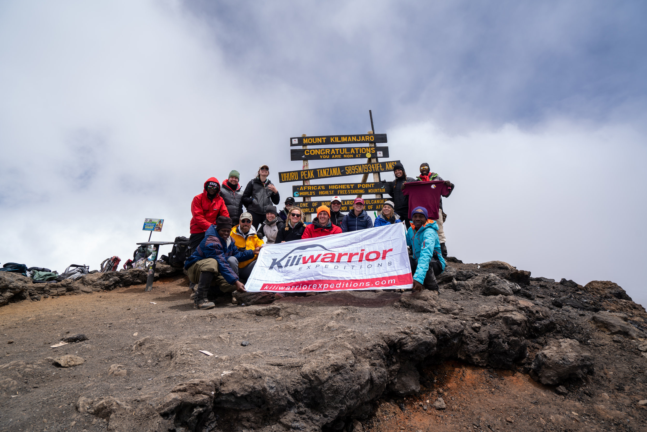 All 11 clients summiting successfully!