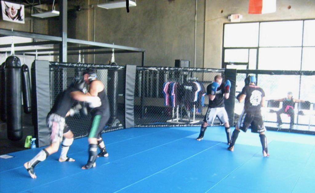 Some members of the Thunderkick fight team in Tyler, TX.