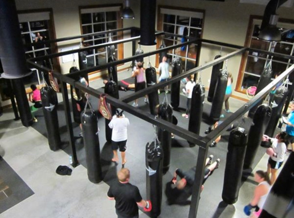 Cardio kickboxing at the former Jenks location.