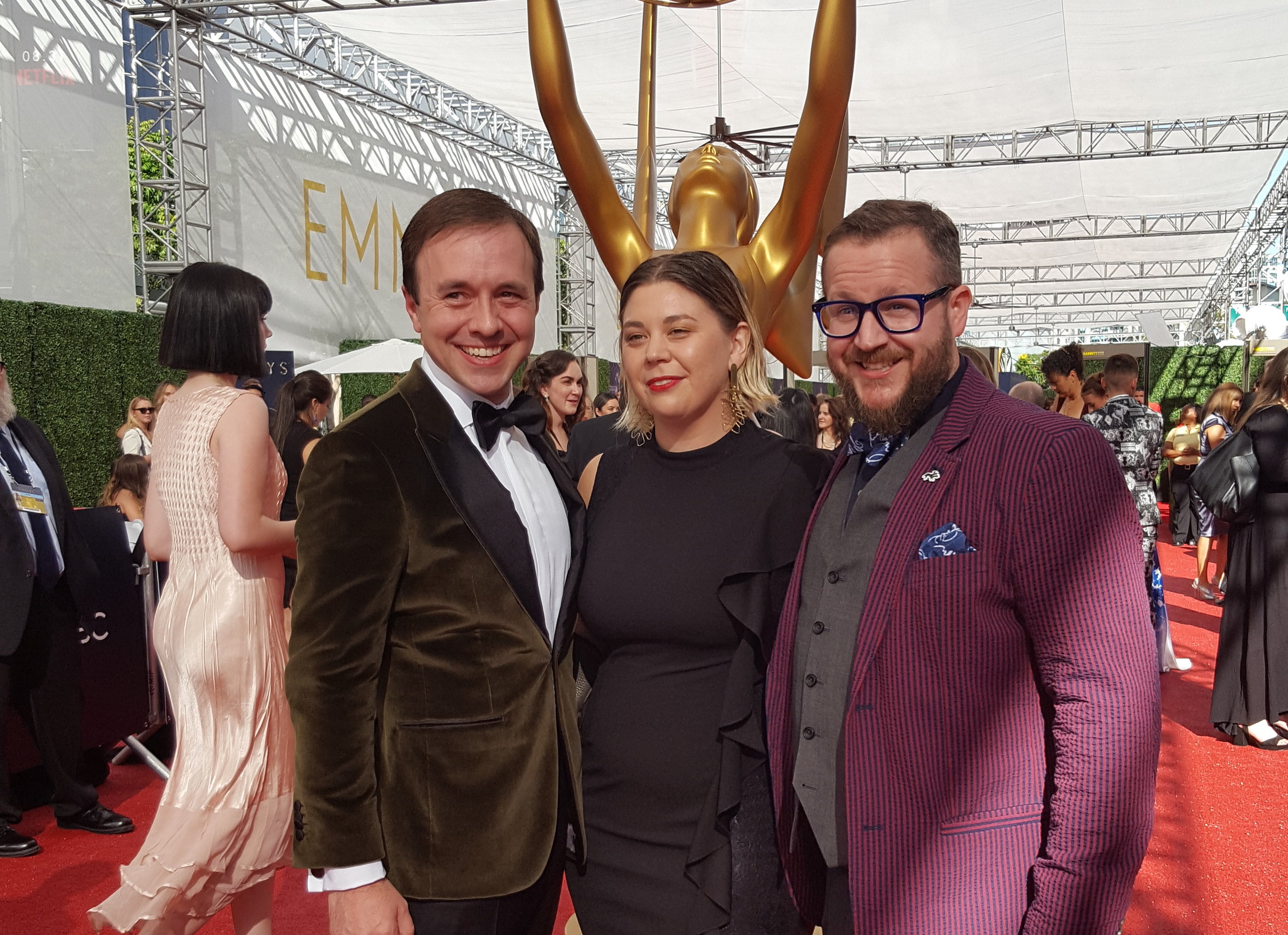 Creative Arts Emmy Awards with Production Designer Timothy O'Brien and Art Director Taylor Mosbey. September 2018.