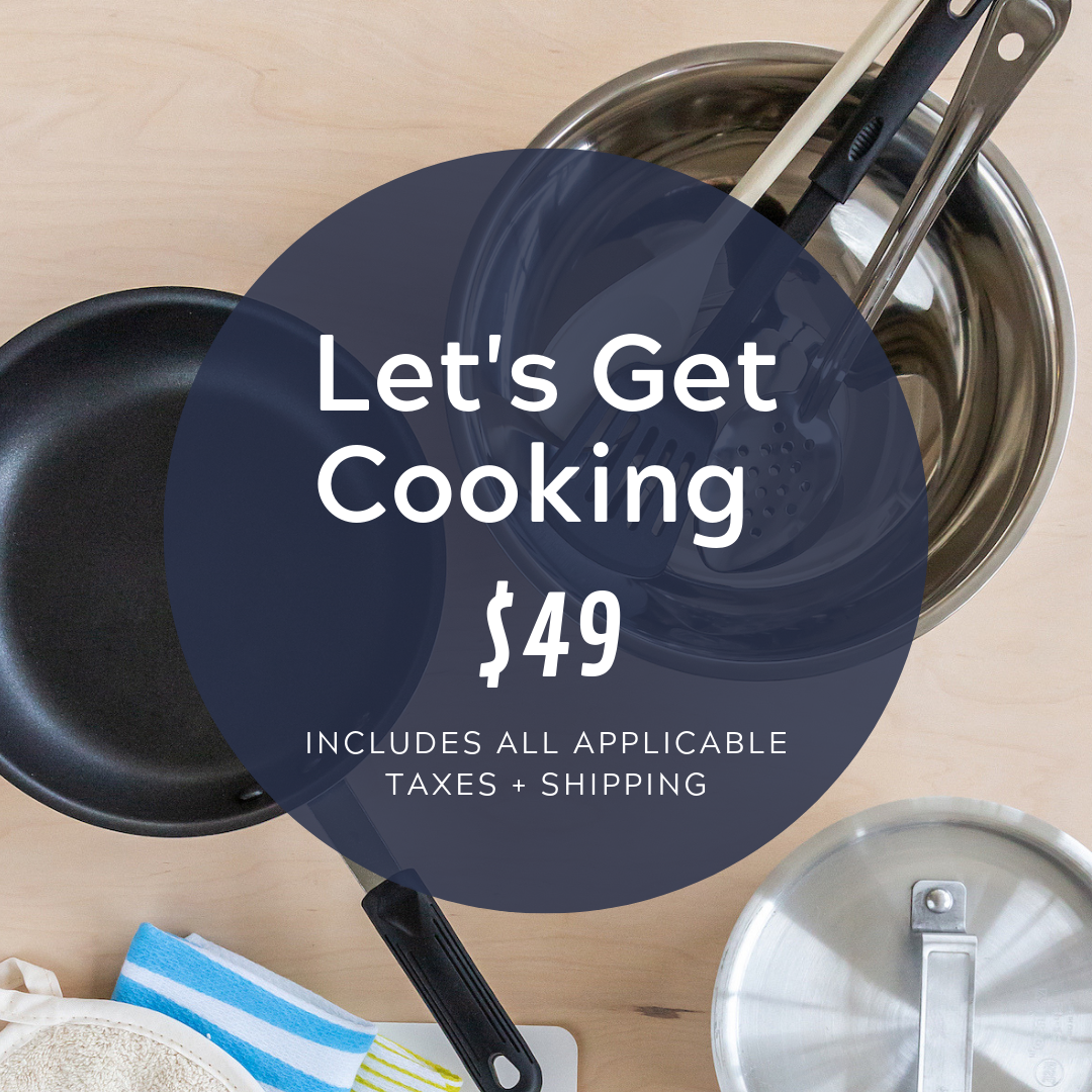 Social Media Post Sample Copy:  This bundle of kitchen essentials has everything our clients need to whip up success in the kitchen!  https://cocobundle.co/bundles-3rd-street/lets-get-cooking