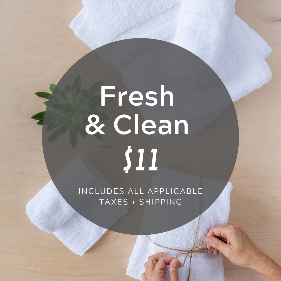 Social Media Post Sample Copy:  For just $11 you can help us stock our shelves with towels by providing 1 bath towel and 1 hand towel—both super durable and made to last!  https://cocobundle.co/bundles-prevention-point/fresh-and-clean