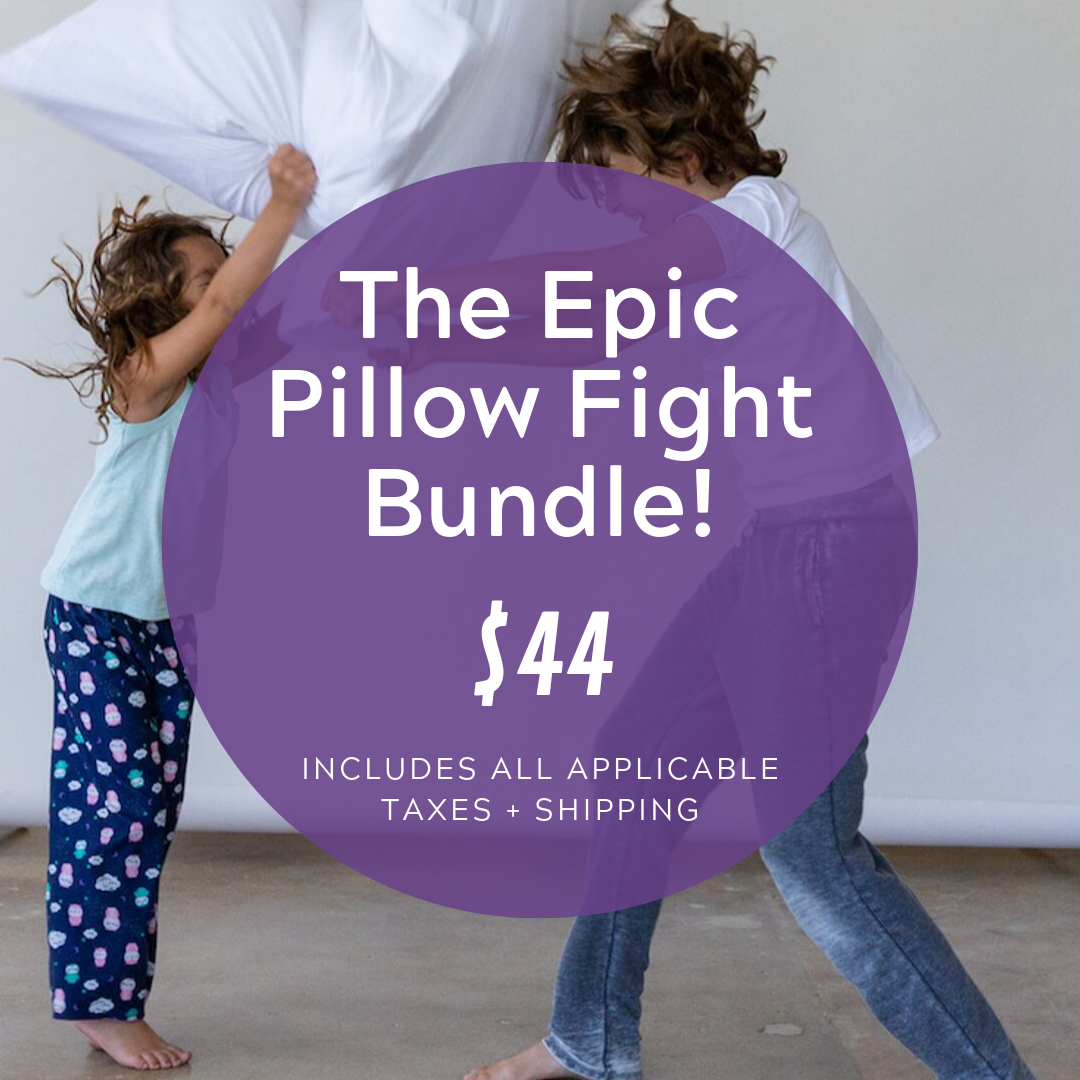 Social Media Post Sample Copy:  Sweet dreams (and pillow fights!) are made of these—four pillows, four pillowcases, enough for the whole family to join in the fun!  www.cocobundle.co/svs-utah