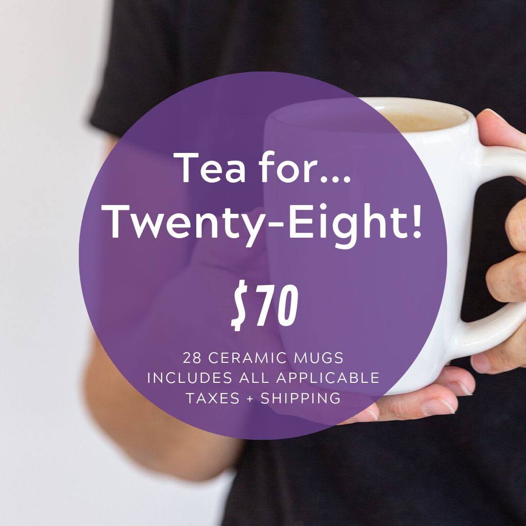 Social Media Post Sample Copy:  What can $70 do? Provide TWENTY-EIGHT ceramic mugs (enough for 7 families!). That's a lot of tea (or coffee… or hot cocoa…)   www.cocobundle.co/svs-utah