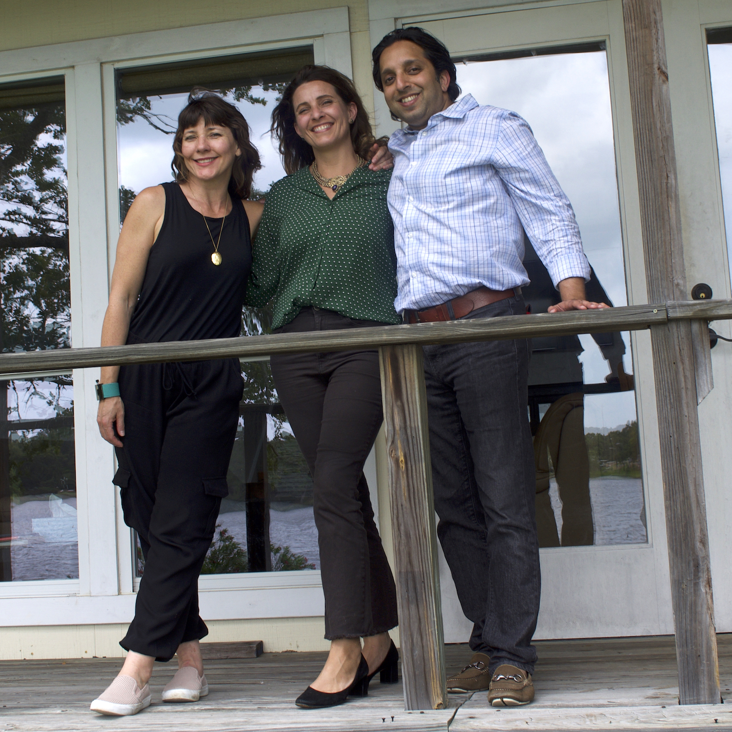 Me (left) and my co-founders, Clarissa Hulsey- Bailey and Mehlam Bhiwandiwala