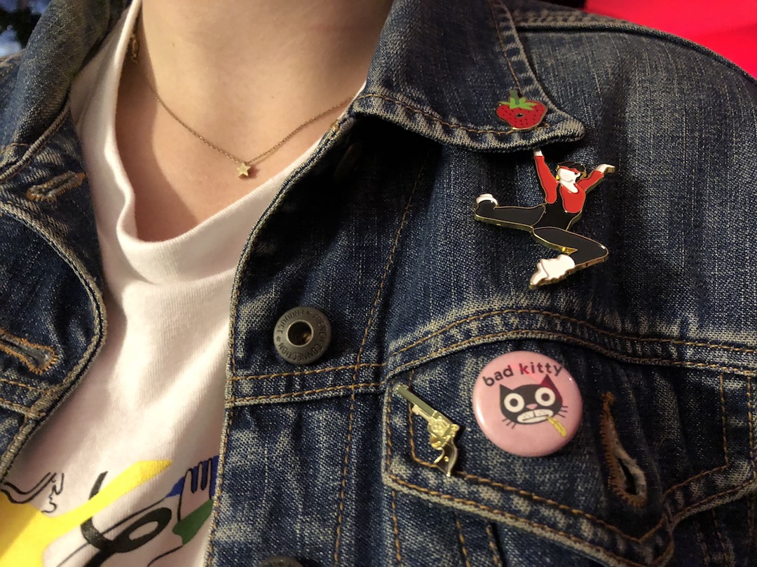 Pictured: Kate Bubalo's pins