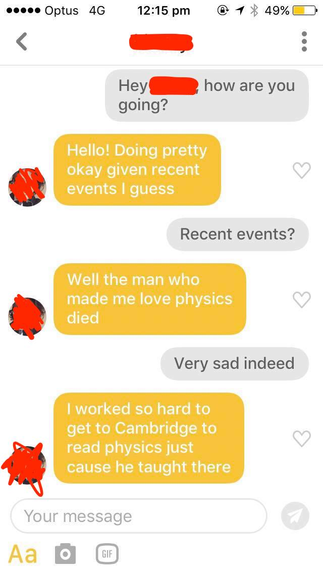 Source:Sophie McGregor anonymous friend on Bumble