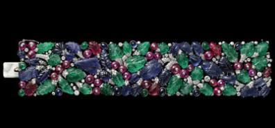 Tutti Frutti strap bracelet, 1929.