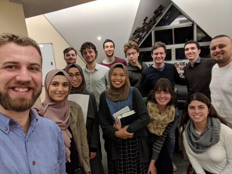Recent meeting of the USU Interfaith Council with Jacob Masina (Chair, USU Board Director 2017-2019) and representatives of SUMSA, AUJS, UniBodhi, Baha'i Society, EU, SOPHIA, and CathSoc.