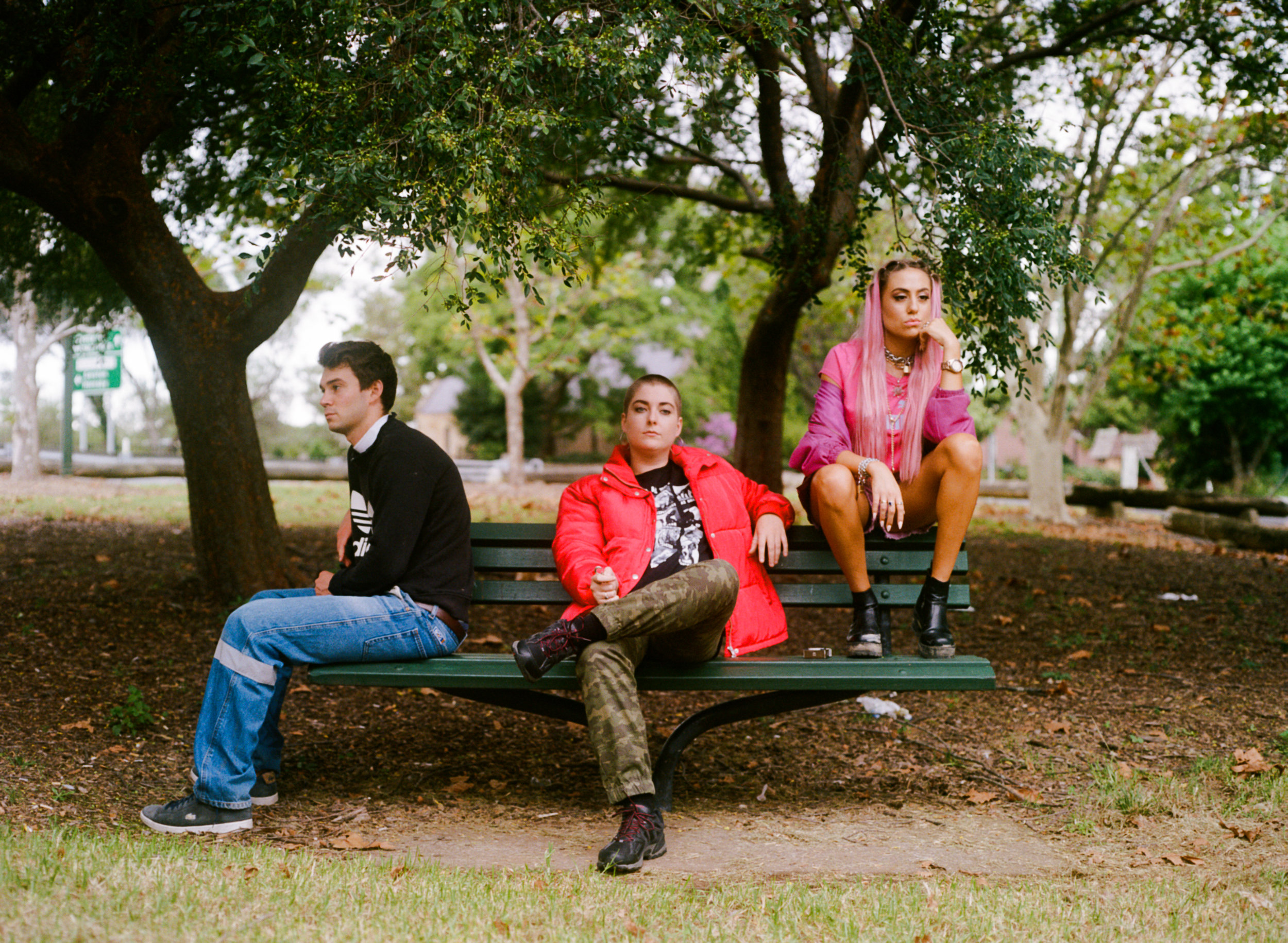 Luke (played by Chris Rowe), Beth (played by Sophie Peppernell) and Holly (played by Akala T Newman)