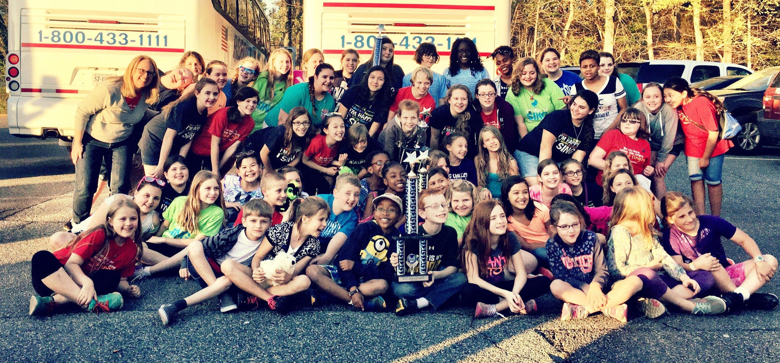 ABB+ Choirs travel to Williamsburg and Busch Gardens