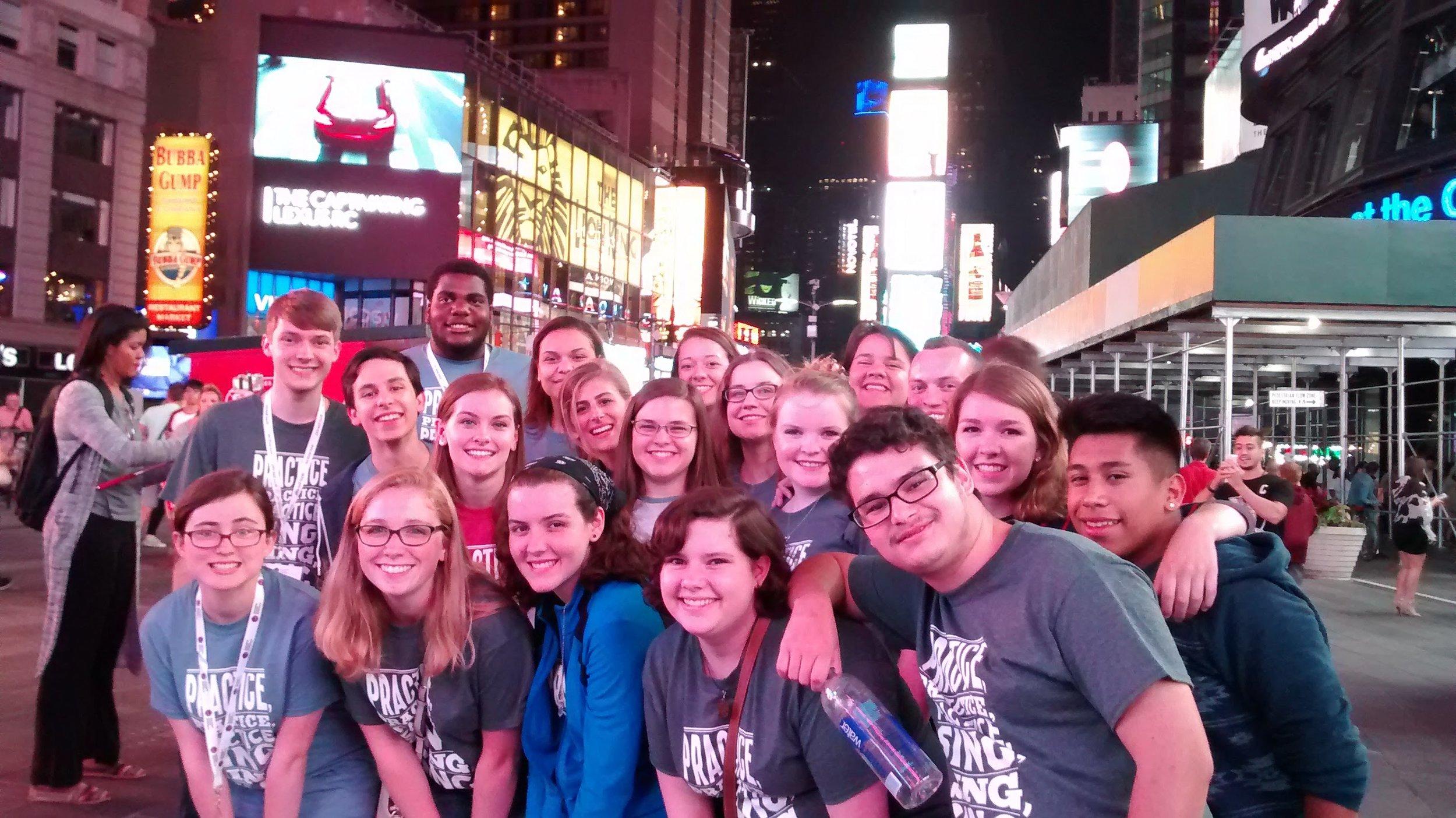 C Choir Summer Trip to NYC