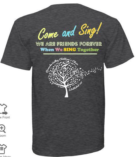C Choir T Shirt (Back)