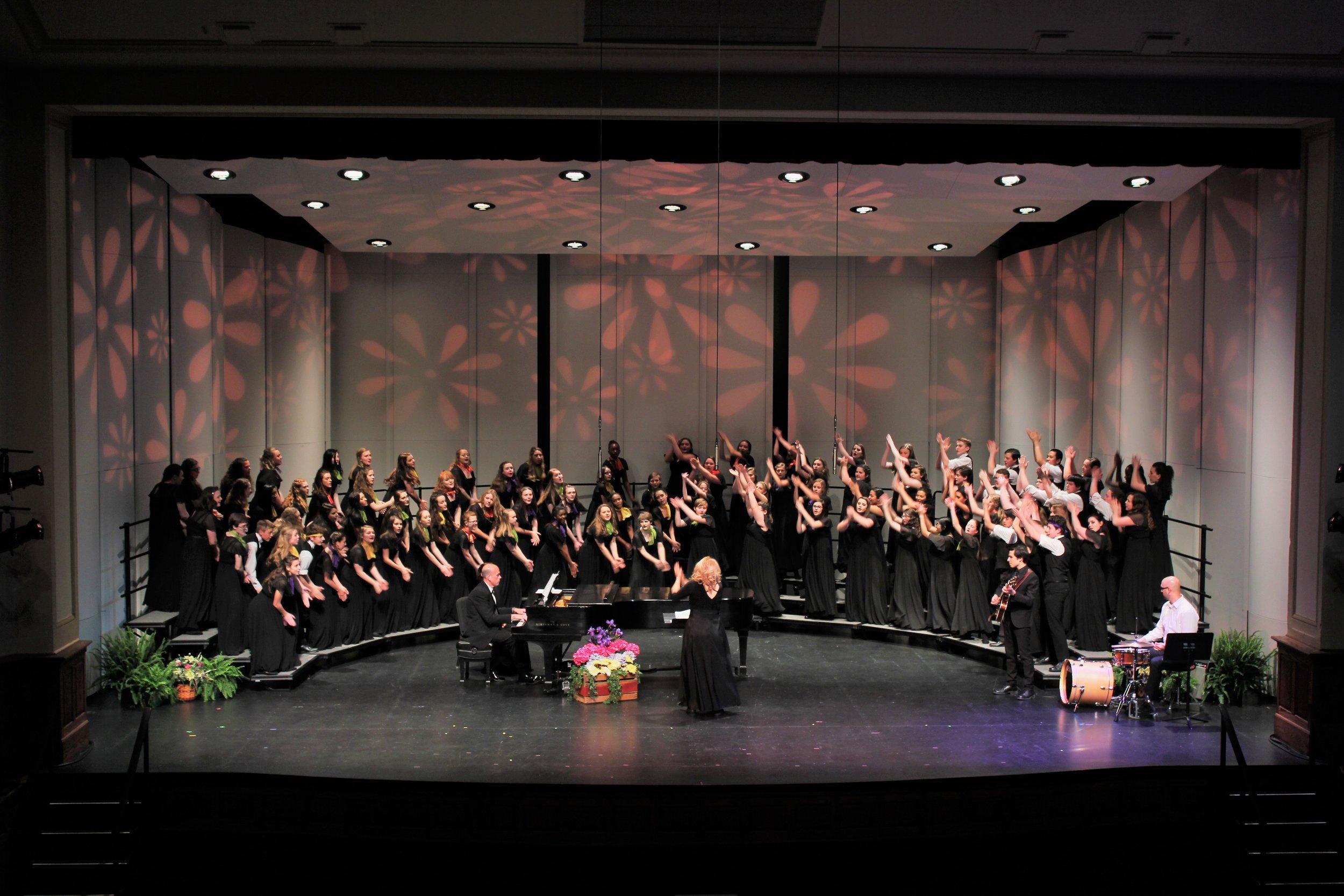 "C Choir singing ""Rock Around the Clock!"""