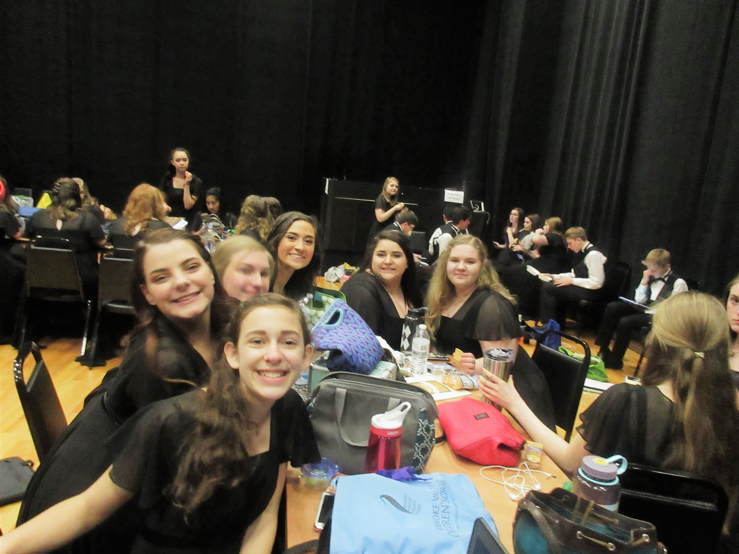 Hanging out in the C Choir Dressing Room Backstage!