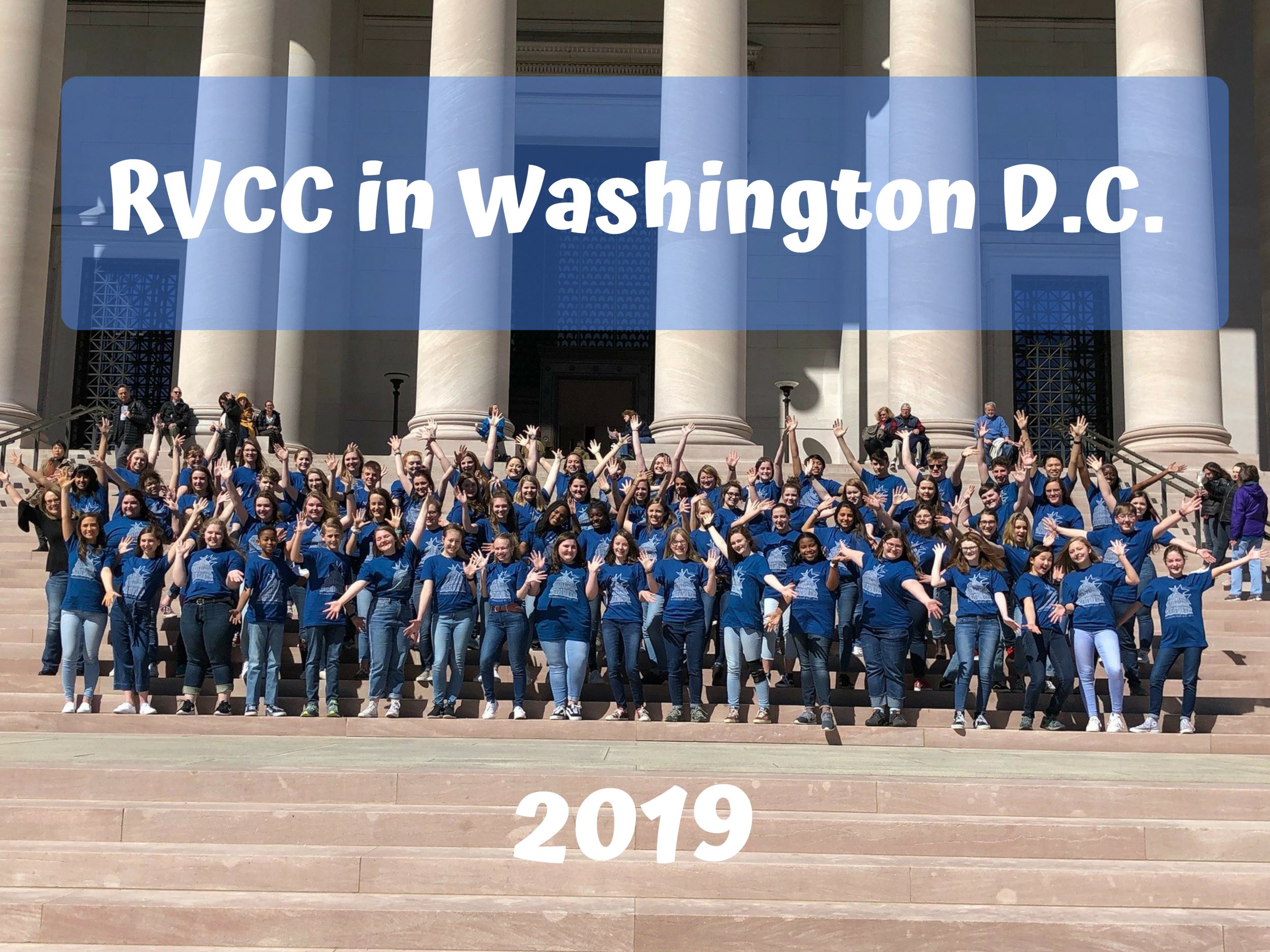 The Concert Choir from the Roanoke Valley Children's Choir in Washington, DC, March 22-24, 2019.