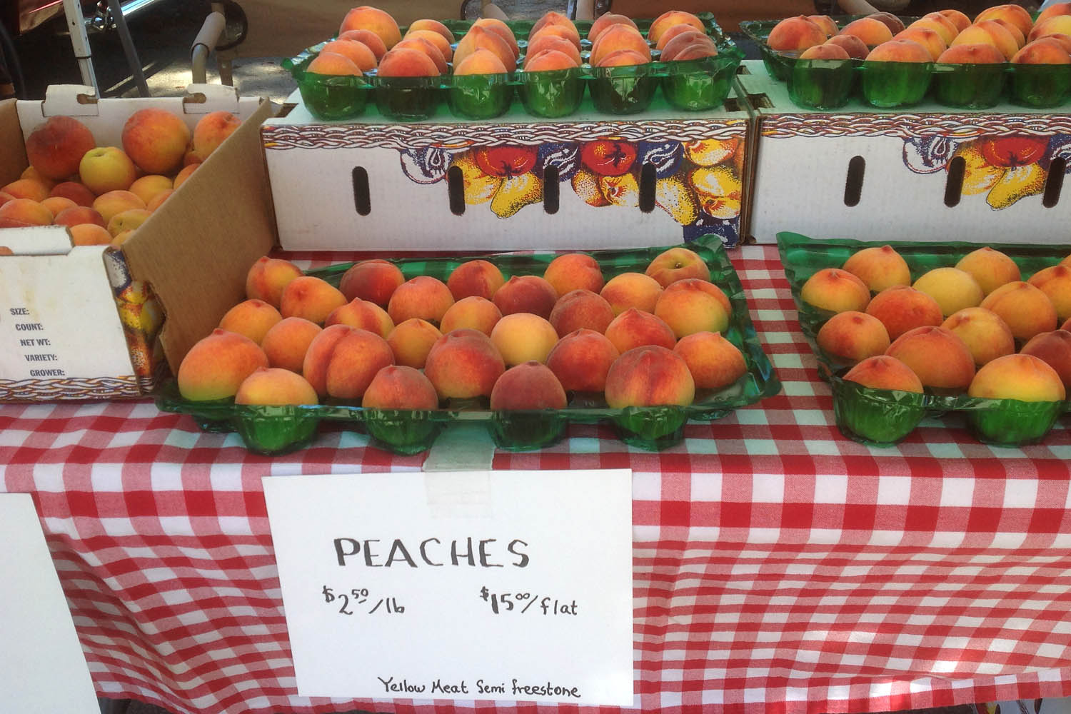 The best peaches at the South Lake Tahoe Farmers Market