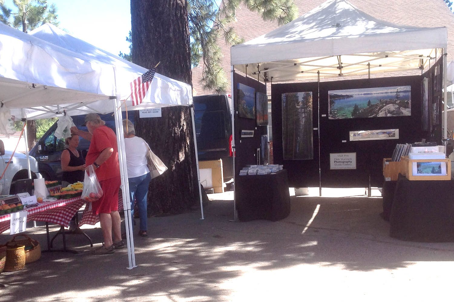 Dirk Yuricich Photography Booth at the Farmers Market