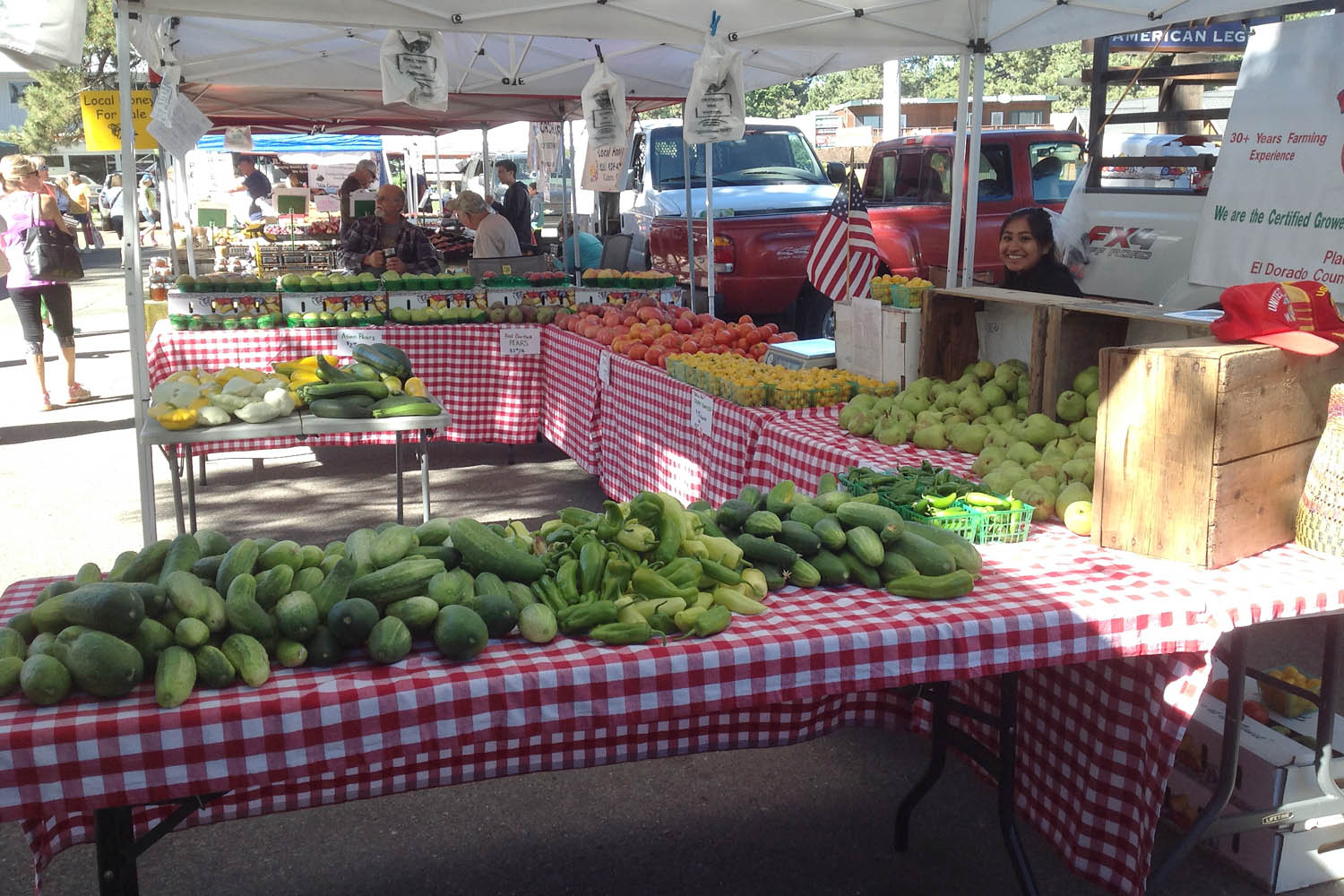 Red Shack Produce at the El Dorado County Certified Farmers Market