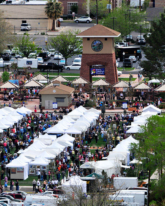 The St. George Art Festival at Town Square Park on April 19 & 20, 2019