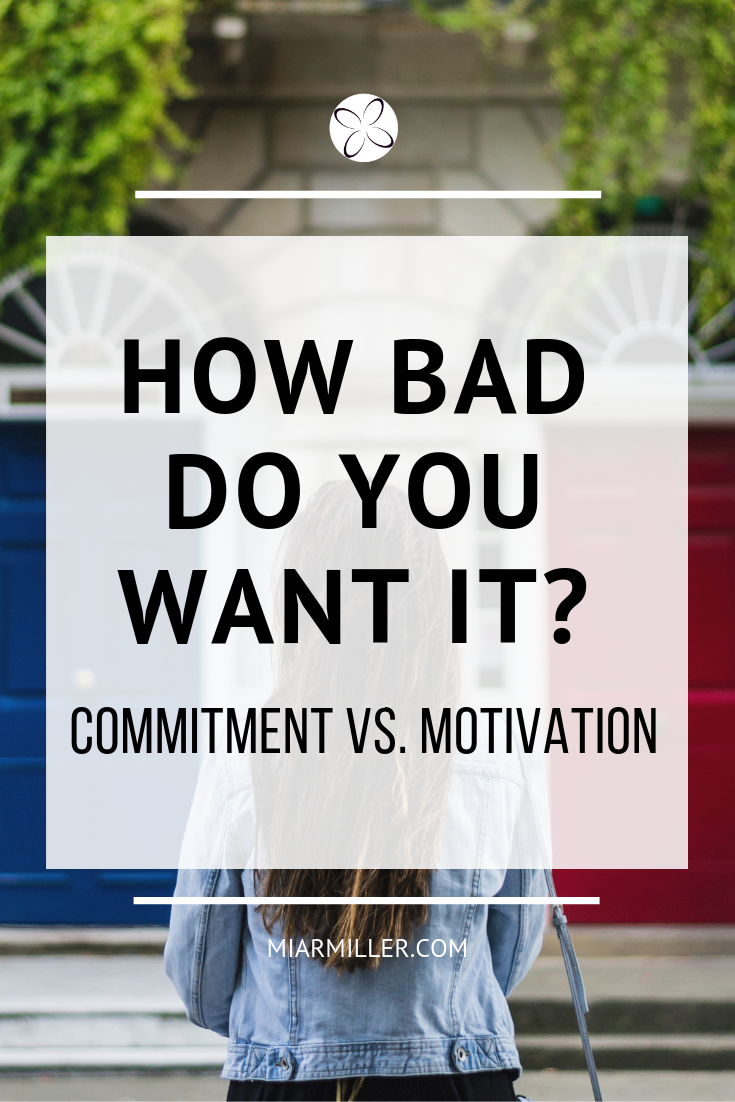 Commitment vs. Motivation. Are you motivated, or committed? What's the difference, and is one better than the other? Click the link inside to watch the video where I explain what motivation and commitment really are, and which one you need in your life the most right now in order to reach your goals.  Join the discussion in my private Facebook group!  http://bit.ly/bf-group  Learn more about me and how I can help you develop a winning mindset:  www.beflourished.com