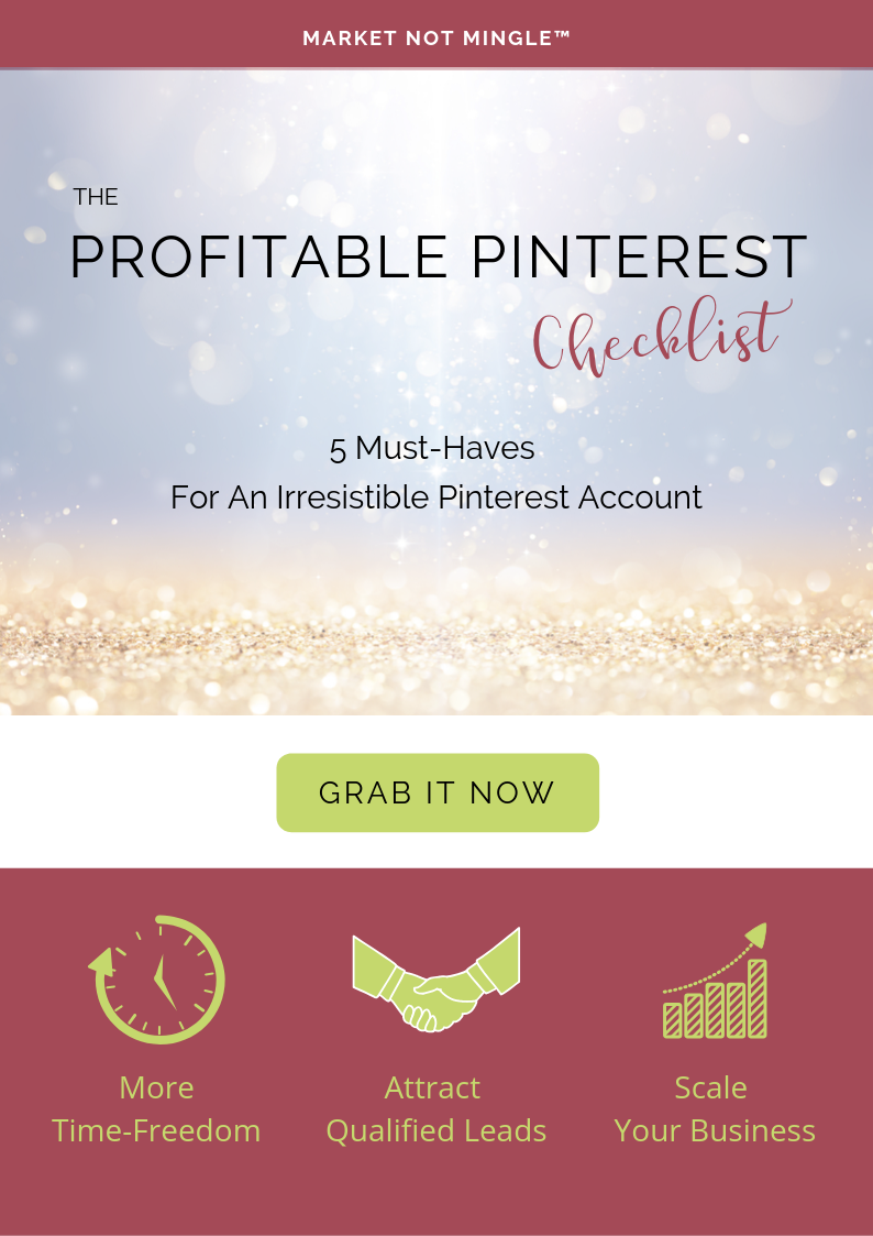 THE PROFITABLE PINTEREST CHECKLIST marketnotmingle.com
