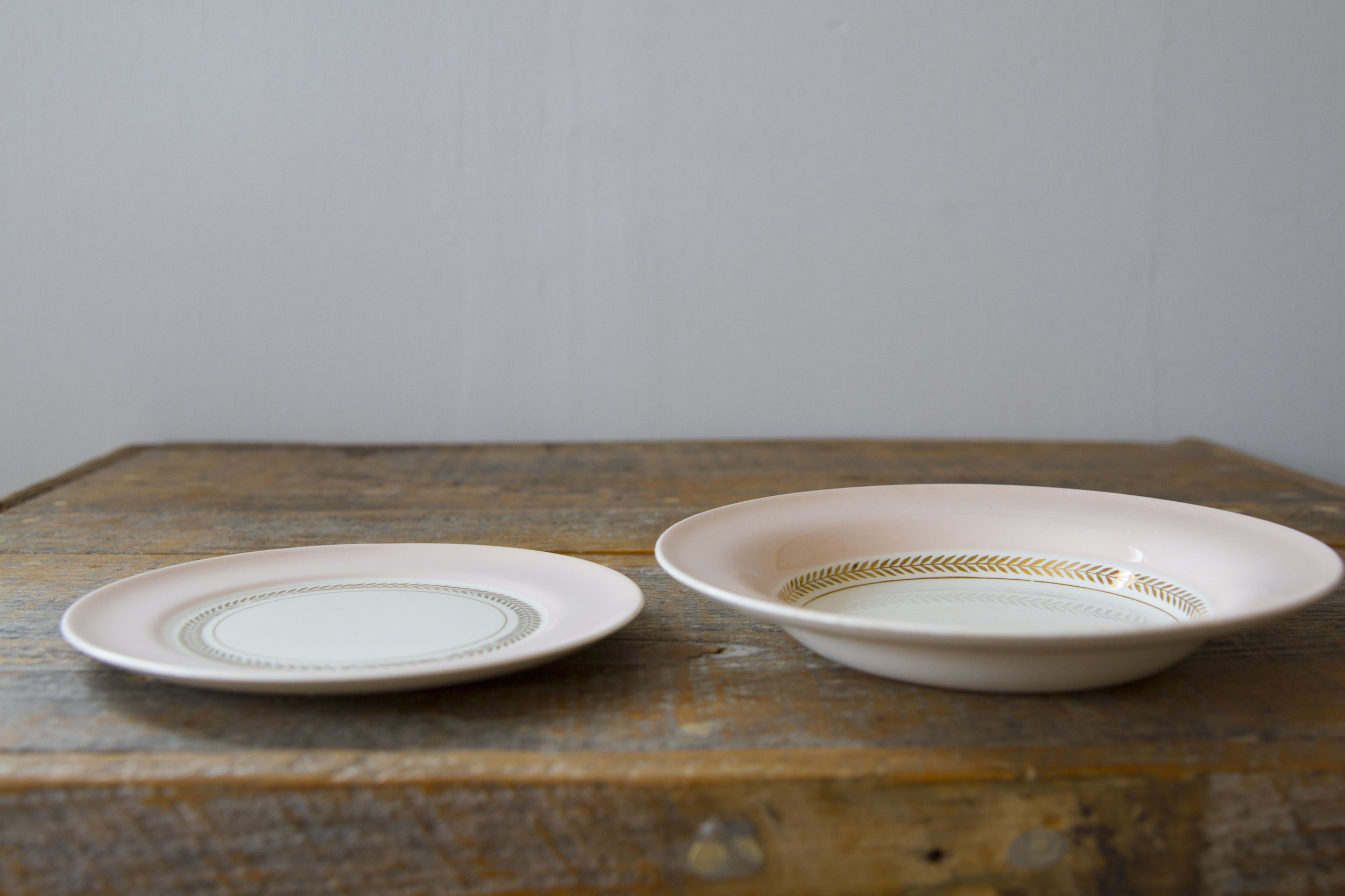 Quantity: 2 Snack Bowls, 14 Dessert Plates  Price: $2 each