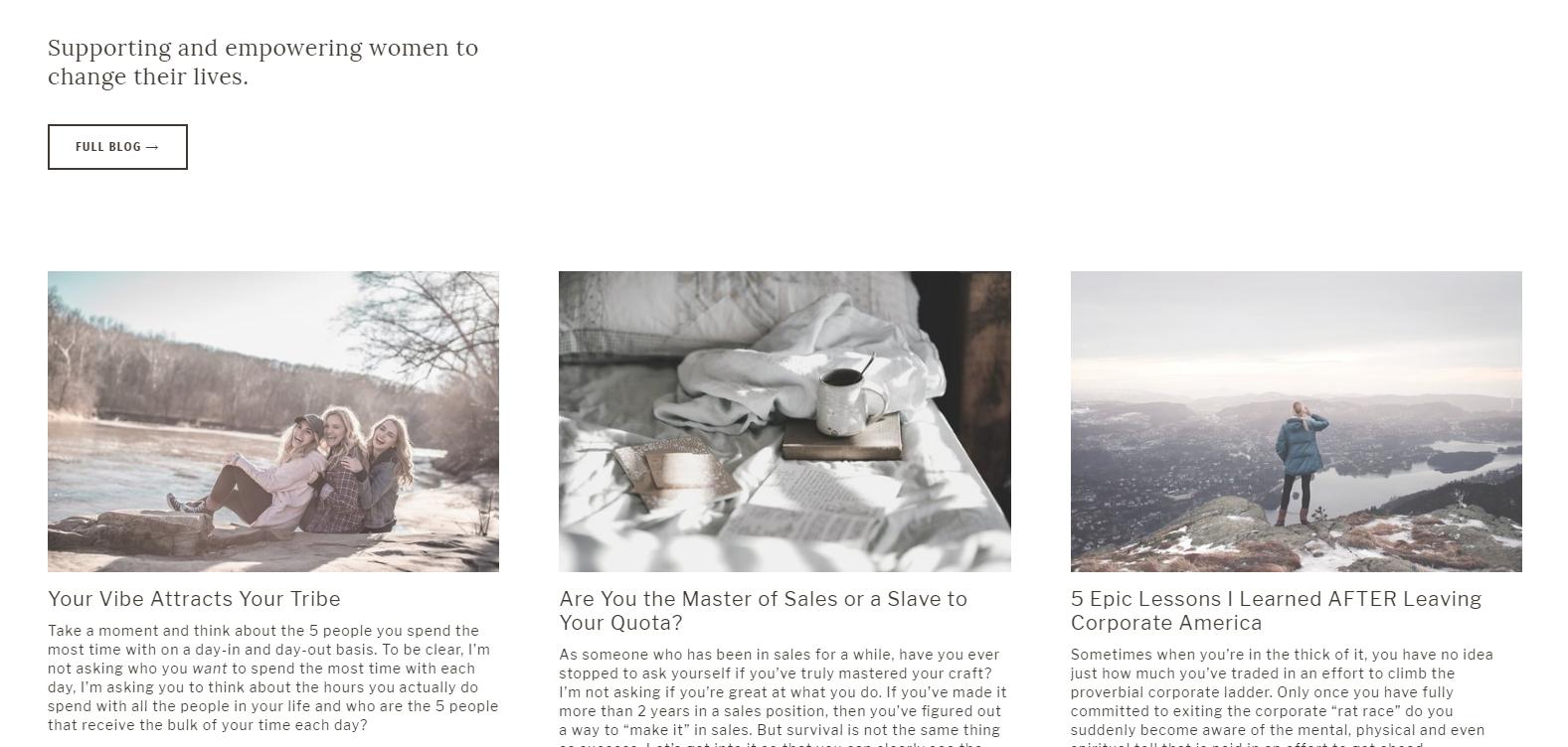 Kristy Kuhl Website Design