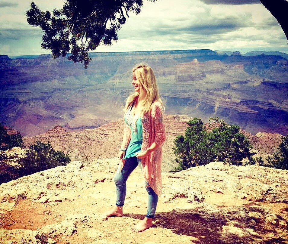 Amanda Fleming Taylor at The Grand Canyon