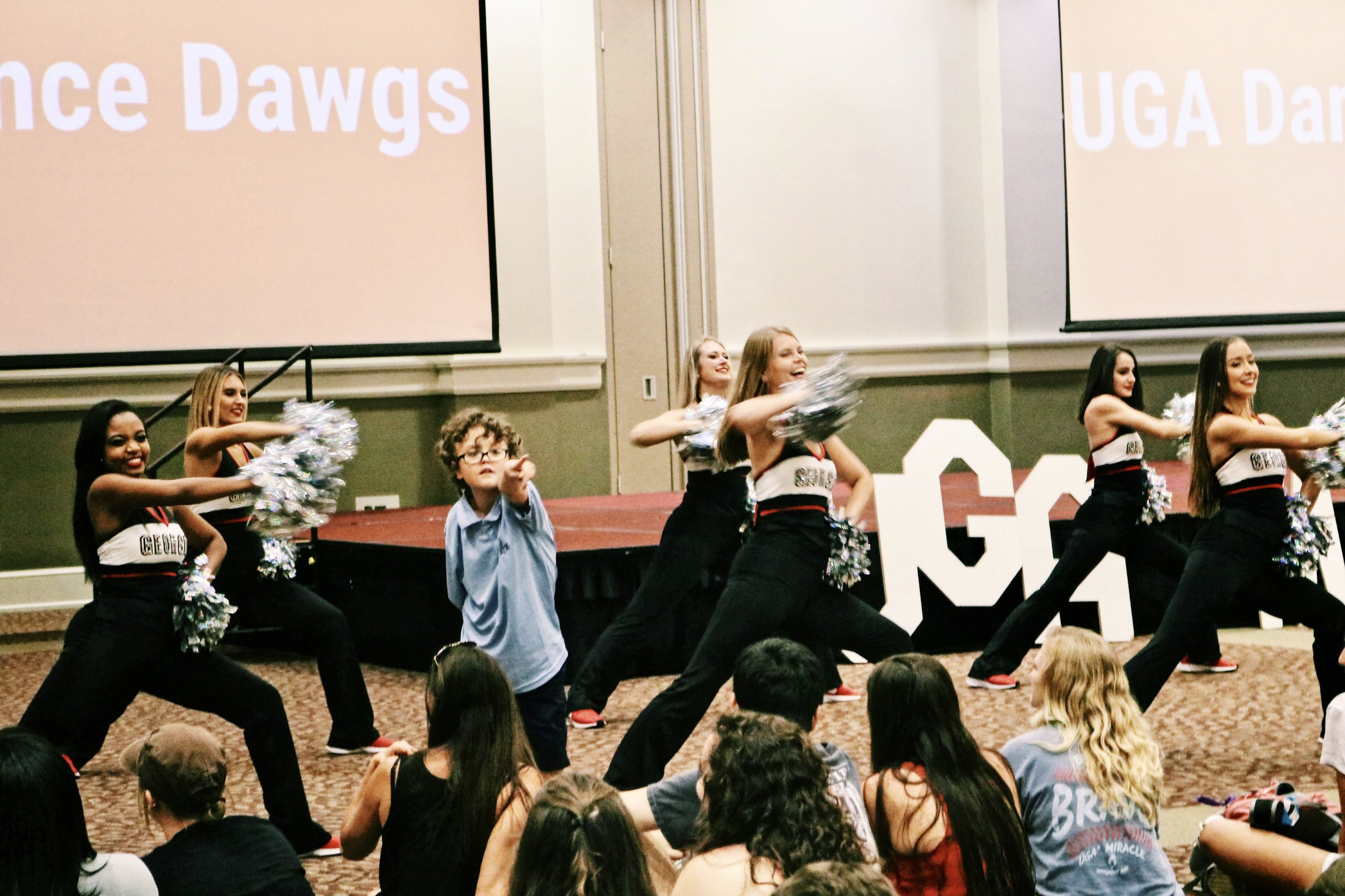 Parker Grelecki with the UGA Dance Dawgs