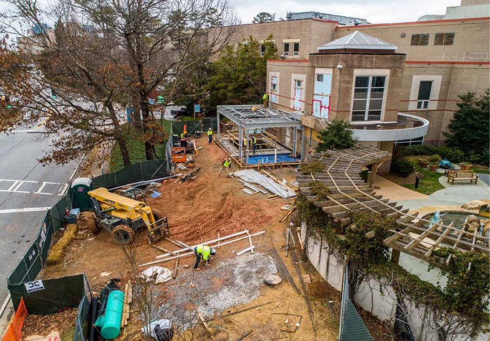 The pool under construction at Children's Healthcare of Atlanta.