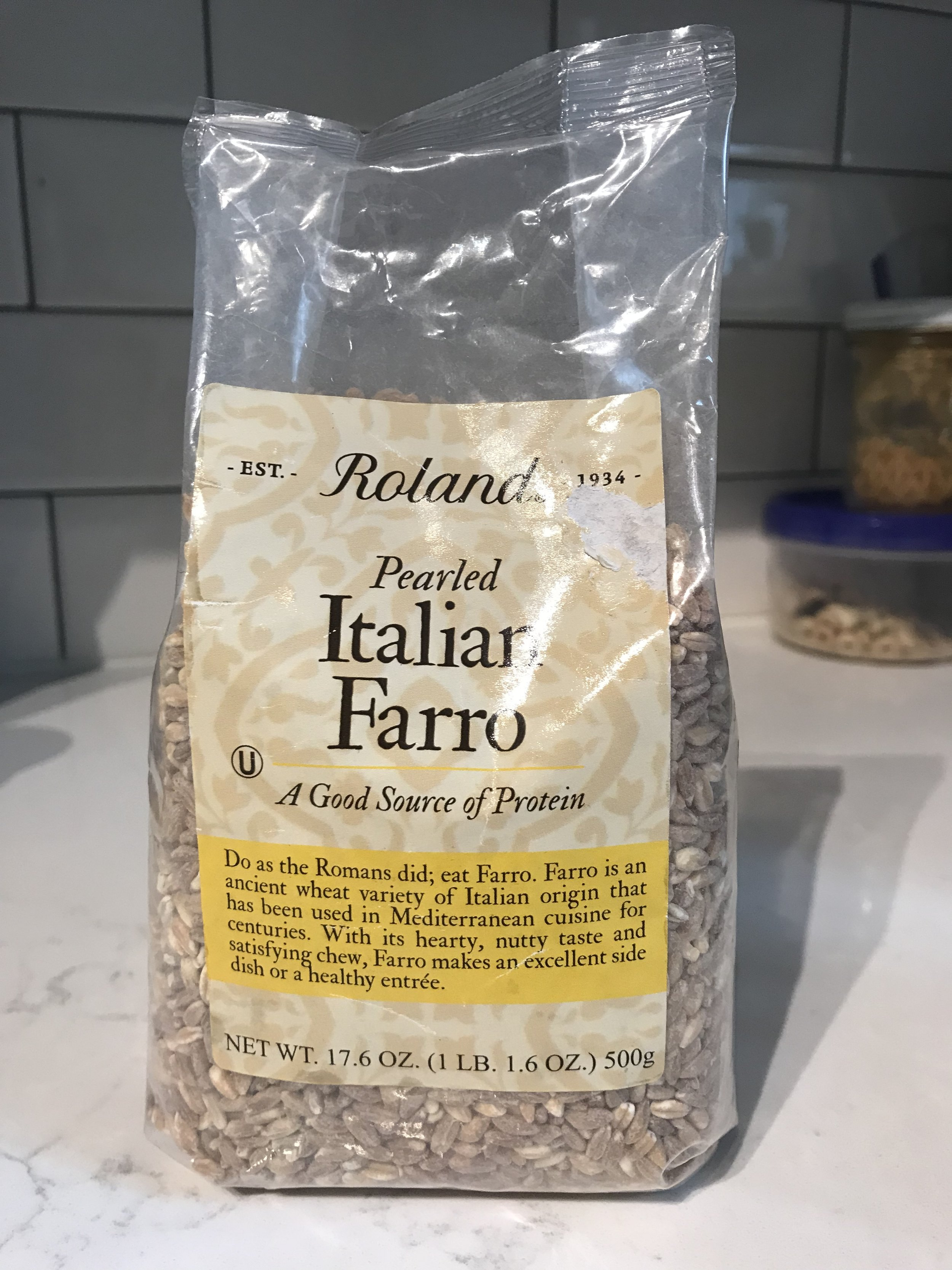 I used this brand that I picked up from the Italian market, but I also really love Bobs red Mill organic farro.