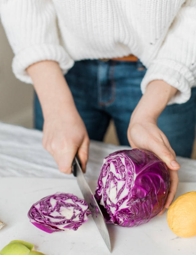 Homemade sauerkraut is a great way to help boost digestion!