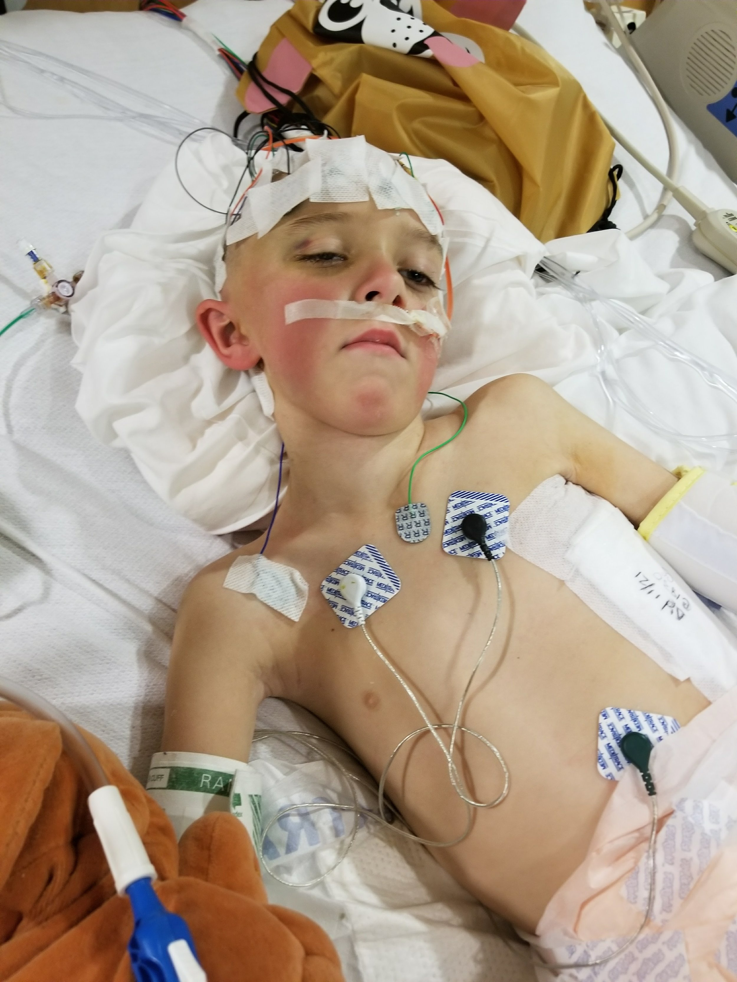 Christian spent 66 days in the Pediatric Intensive Care Unit at Riley Hospital for Children in 2017. He suffered from hysteria, pain, fevers and chills before contracting pneumonia.  | PHOTO COURTESY OF DAUGHERTY FAMILY
